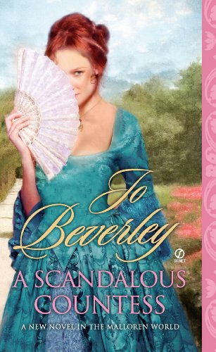 Book A Scandalous Countess - an illustration of a woman standing with her face half obscured by a fan