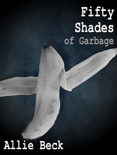 A Black and white picture of an open banana peel, Fifty Shades of Garbage.
