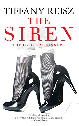 Book The Siren - a close up of feet in black fishnets and black heels with a white cloth tied around the ankles