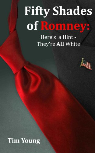 Fifty Shades of Romney - a red tie on a grey background. Sigh.