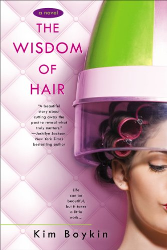 Book The Wisdom of Hair - a woman in an old fashioned dome dryer against a pink upholstered background