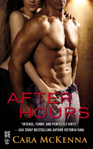 Book After Hours - McKenna - shirtless dude with epic muscles with his back against a woman who is leaning against a wall behind them both