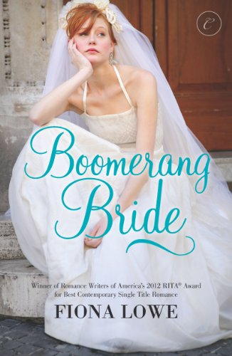Book Boomerang Bride Fiona Lowe a disheveled bride sitting on a stoop with her chin resting on her hand