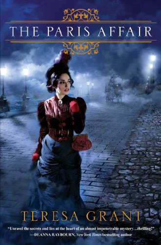 Book The Paris Affair - a woman walking on dark cobblestones by the water alone