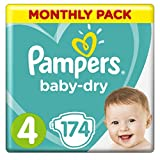 Pampers Baby-Dry Nappies Monthly Saving Pack - Size 4, Pack...