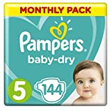 Product Image of Pampers Baby-Dry Nappies Monthly Saving Pack - Size 5, Pack...