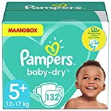 Product Image of Pampers Baby-Dry Nappies Monthly Saving Pack - Size 5+,...
