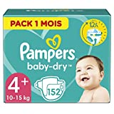 Product Image of Pampers Baby-Dry Nappies Monthly Saving Pack - Size 4+,...