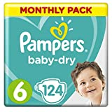 Product Image of Pampers Baby-Dry Nappies Monthly Saving Pack - Size 6, Pack...