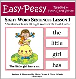 Free Kindle Book : Sight Word Sentences Lesson 1: 5 Sentences Teach 20 Sight Words with Flash Cards (Learn to Read Sight Words)
