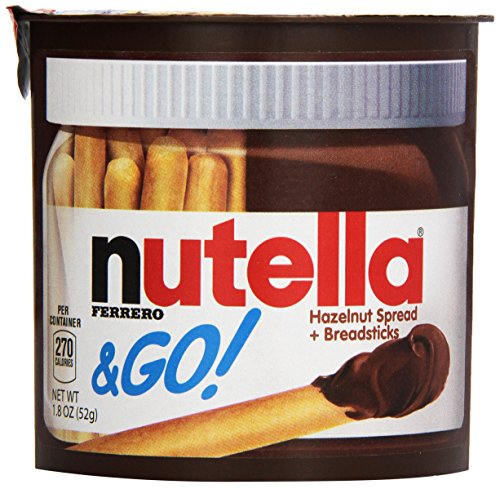 Nutella and Go - nutella with sweet cracker breadsticks