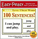 Free Kindle Book : Level 1 Sight Words - 100 Sentences with 50 Word Flash Cards! (Easy Peasy Reading & Flash Card Series Book 11)