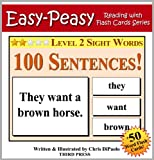 Free Kindle Book : Level 2 Sight Words - 100 Sentences with 50 Word Flash Cards! (Easy Peasy Reading & Flash Card Series Book 11)