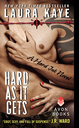 Book Hard as It Gets a Hard Ink Novel - a tattooed arm against a tattoed chest close up with no heads. There are so rarely any heads!