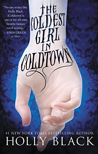 Book The Coldest Girl in Coldtown is written in tattoo ink on the inside of a wrist with the hand pointed down