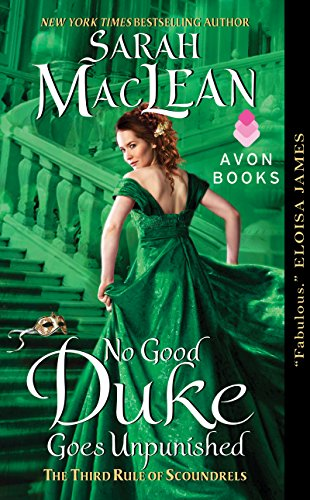 Book No Good Duke Goes Unpunished. So much green on this cover.