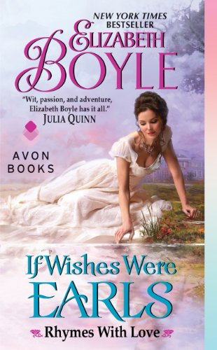 Book If Wishes Were Earls - a woman in a white short sleeved gown looking into a pool of water