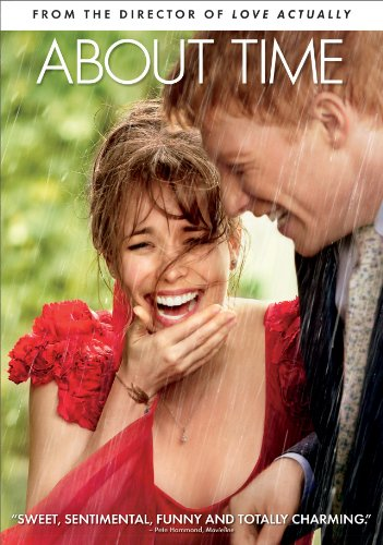 Book About Time - Rachel McAdams and Domhnall Gleeson laughing in the rain