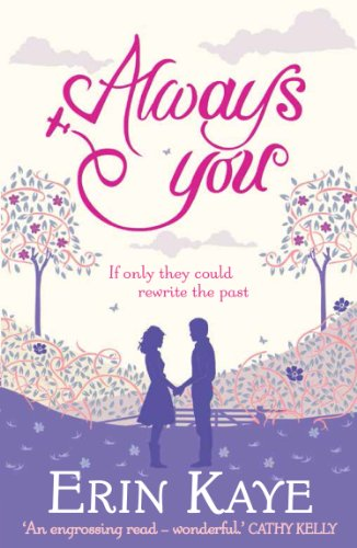 Book Always You - a silhouette cutout in purple and pink of two people holding hands in a park