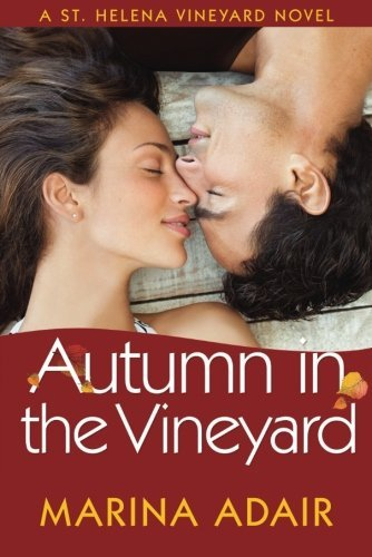 Book Autumn in the Vineyard - a close up of two people about to kiss