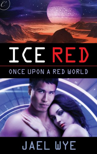 Book Ice Red - a martian landscape with a close up of a couple on the cover below the title