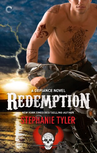 Book Redemption a dude with tattoos astride a motorcycle on a beach