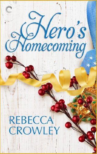 Book Hero's Homecoming - holly and berries on a white washed wood background on top of a military medal and ribbon