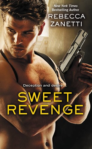 Book Sweet Revenge - a close up of a topless dude with a gun holster, handgun, and a lot of chest hair.