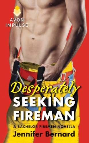 Book A close up of a firefighter's abs and upper groin against a really ugly flat red background