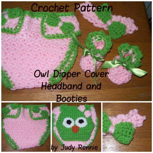 Free Crochet Owl Diaper Cover Pattern : Discover The Book : Crochet Pattern - Owl Diaper Cover Set ...
