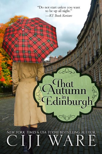 Book That Autumn in Edinburgh a woman with a red umbrella standing in front of a building I presume is in Edinburgh