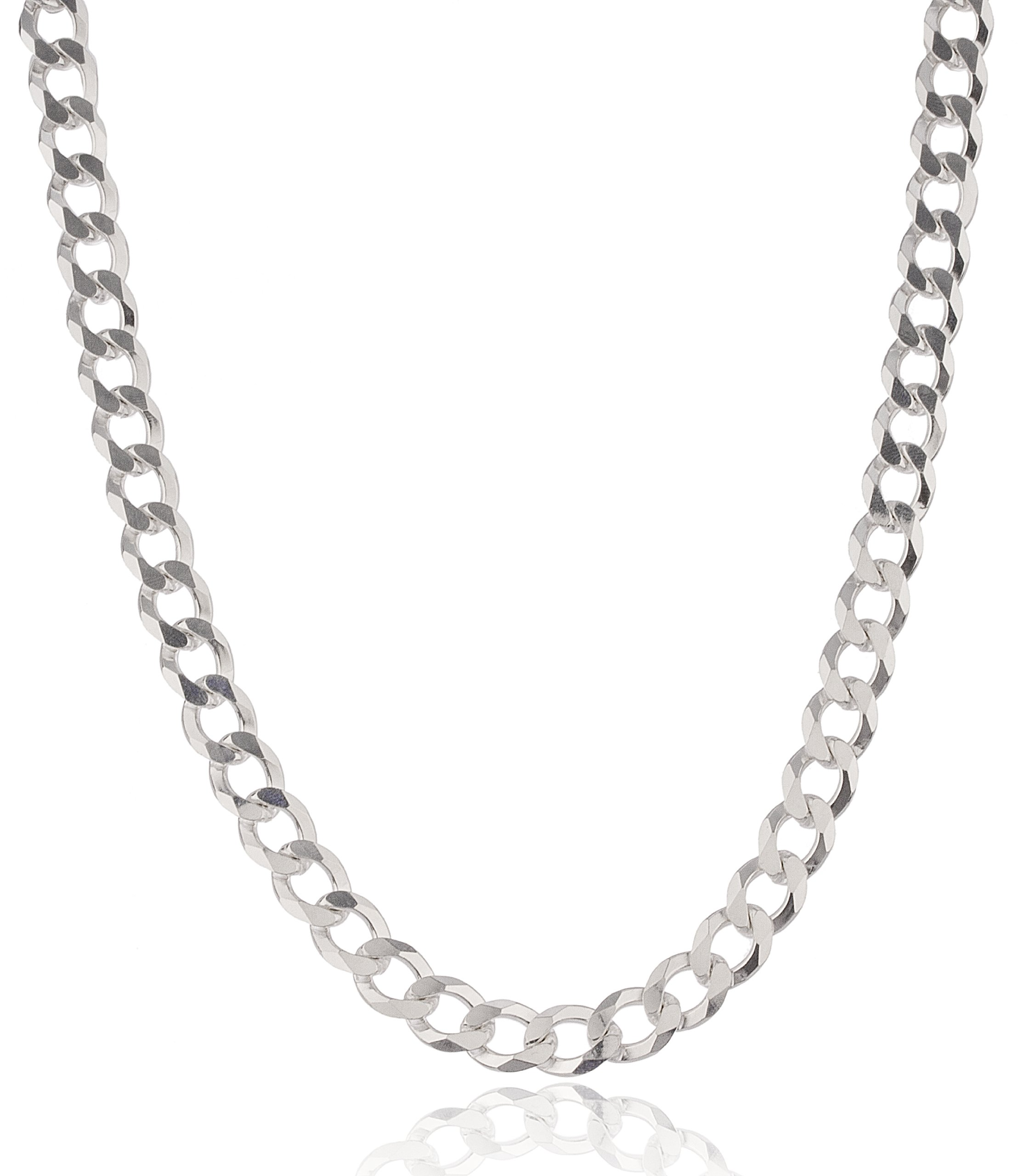 Real 925 Sterling Silver 9mm Prolux Cuban Chain (28 Inches)