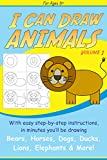 Free Kindle Book : I Can Draw Animals (Step-by-Step Drawing Book 1)