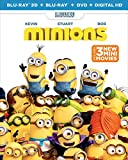 Minions (Blu-ray 3D + Blu-ray + DVD + Digital HD) - December 8
