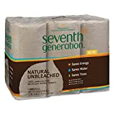 Seventh Generation 13737 Natural Unbleached 100% Recycled Paper Towel Rolls, 11