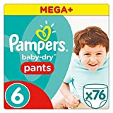 Product Image of Pampers Baby-Dry Pants - Size 6, Pack of 76