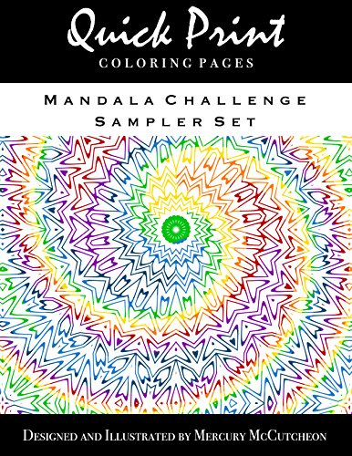 Free Kindle Book : Mandala Sample Pack: 5 Sample Coloring Pages from Mandala Challenge