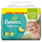 Product Image of Pampers Baby-Dry Nappies Jumbo Pack - Size 6+, Pack of 64