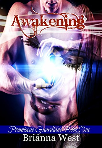 Awakening by Brianna West. A shirtless dude seems to be exploding a galaxy between his bombs, and that galaxy implosion is becoming a woman's face.