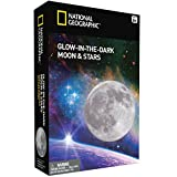 NATIONAL GEOGRAPHIC Glow in the Dark Moon and Stars (Improved Glow as of Aug. 2016!)