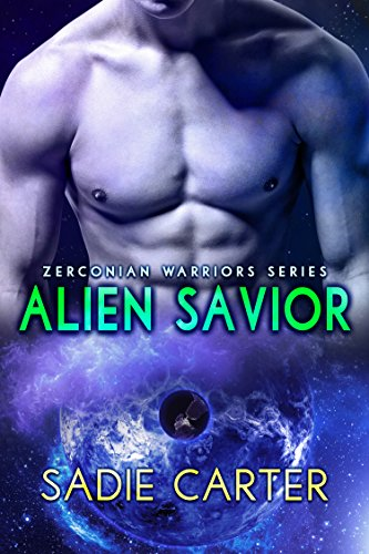 Alien Savior by Sadie Carter. A headless, shirtless dude in space. Where his junk should be is a black, electrified hole. Stay away.