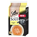 Product Image of Sheba Classics Soup Cat Pouches with Chicken Fillets, 4 x...