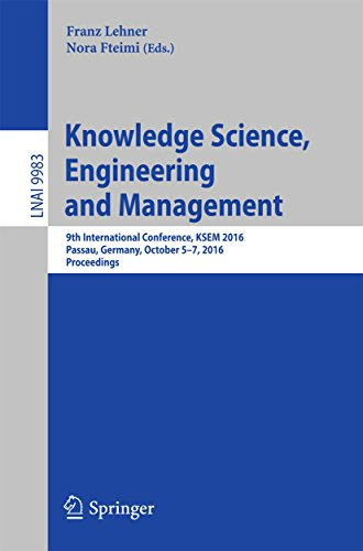 PDF Knowledge Science Engineering and Management 9th International Conference KSEM 2016 Passau Germany October 5 7 2016 Proceedings