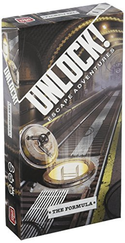 Cover Art shows an open manhole in a tunnel. Cover text says: Unlock! Escape adventures. The formula