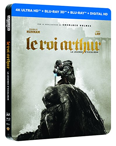 LE ROI ARTHUR : LA LEGENDE D'EXCALIBUR EDITION STEELBOOK LIMITEE - BLURAY 3D + 2D + 4K [4K Ultra HD + Blu-ray 3D + Blu-ray + Digital UltraViolet - Édition boîtier SteelBook]