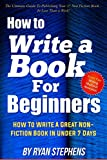 Free eBook - How To Write A Book For Beginners