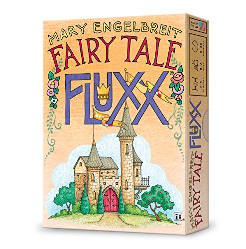 Cover Art shows a small castle surrounded by trees. Text says Mary Engelbreit Fairy Tale Fluxx