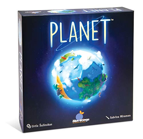 Cover Art shows an image of the 3 globe from the game. Cover text: Planet. Urtis Sulinskas. Blue orange. Sabrina Miramon
