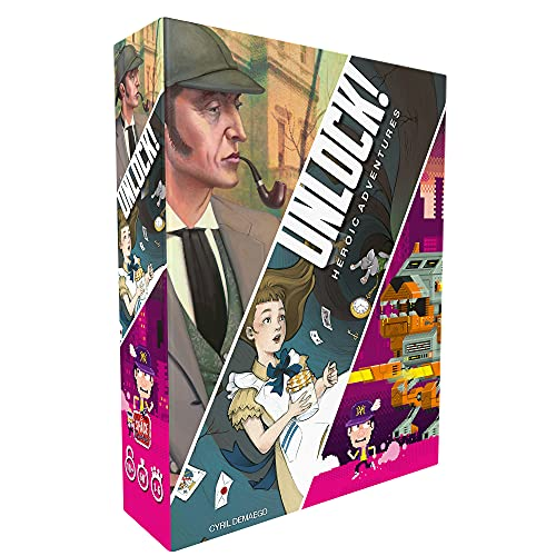 Cover Art is divided into three panels. The first panel shows Sherlock Holmes with a pipe in his mouth. The second has an image of Alice falling down the well to Wonderland. The third shows a pixelated boy running away from a pixeled robot.