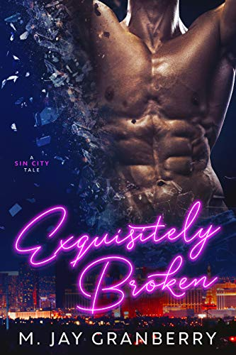 Exquisitely Broken by M. Jay Granberry. An incredibly dehydrated set of abs seems to be exploding into shards of glass atop a cityscape.